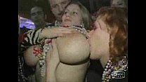Busty girl shows boobs at Mardi Gras