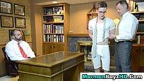 Shaved mormon elder tugs Thumbnail