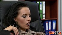 Busty Secretary gets fucked in the office