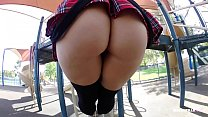 Bad Schoolgirl Caught Skipping gets Fucked by G...