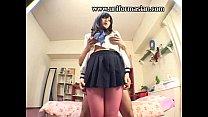 Asian schoolgirl in stocking get fuck