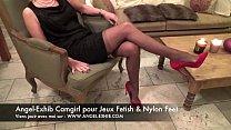 fetish nylon pieds jambes et bas avec milf fran... Thumbnail
