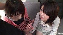 Subtitled Uncensored POV Japanese CFNM threesom...