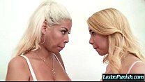 (alina bridgette) Lesbo Girl Get Punish With Dildos By Nasty Mean Lez clip-09