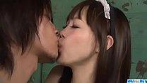 Sexy maid, Momoka Rin, pleases master with hard...