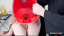 Nasty sweetie was taken in anal hole asylum for...