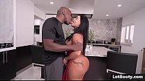 Fat ass latina MILF PAWG gets anal interracial ...