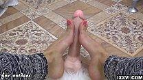 My sweet feet and dildo