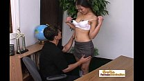 Teen Asian schoolgirl works on her grade with h... Thumbnail
