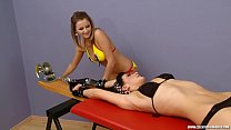 Ticklish Katherine tied to Rack (czechticklishg...