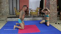 Orsi.b vs. Zsolt - bikini mixed wrestling