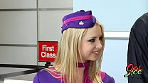 pbaw4 big tit flight attendents eva angelina and  sunny leone share big cock - download porn videos