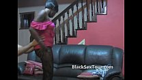 White dick inside black teen amateur