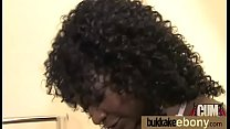 Ebony in a huge bukkake 4