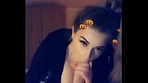 Amelia Skye gives sloppy blowjob and swallows cum Thumbnail