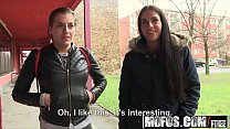 Public Pick Ups - Euro Chick Flashes Ass for Ca...