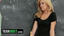 InnocentHigh Sexy blonde schoolgirl banged in t...