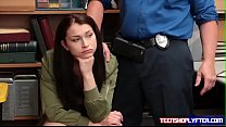 Teen shoplyfter understand what she needs to do...
