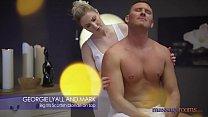Massage Rooms Scottish stunner Georgie Lyall hot oily fuck with UK stud