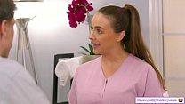 Busty masseuse gives couple nuru massage