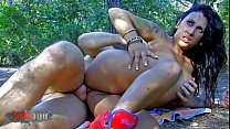 Hot busty latina whore fucked hard in the woods