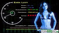 Porn Goes Pro - Teen Sara Luvv is punished by a big dick, big booty