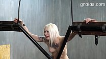 Caning of a skinny blonde girl Thumbnail