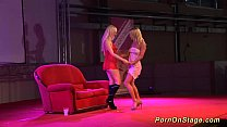lesbian teen sex on public stage
