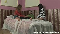 Young Sex Parties - Sex party with 2 chicks Veronika, Ruby and a guy