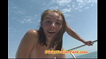 Milf and Teen Daughter FUCK on Daddys BOAT Thumbnail