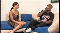 Beautiful ebony with huge boobs London Reigns cheats on her man with his stud friend
