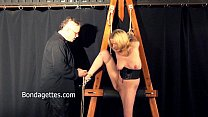 Amateur blonde Weekays dungeon bondage and sexu...