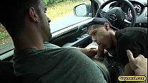 Roadside blowjob and hard anal pounding Thumbnail