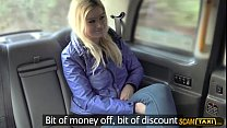 Blondie chick gets a backseat discount and receives facial's Thumb
