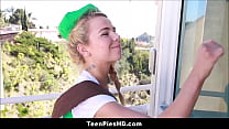 Cute Teen Girl Scout Creampie From Customer