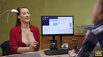 LOAN4K. Busty redhead pays with sex for develop...