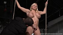 Busty slave Melanie Moons electro tortures and ...