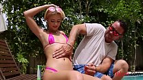 Pool side manners for lil sis- TEEN SLUT TRAINING