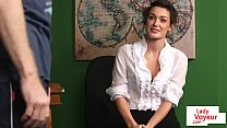 Stockinged british teacher watches sub tug