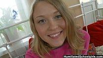 Humiliated Schoolgirl - Russian Schoolgirl clim...