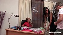 Gorgeous french milf in lingerie fucked hard an...