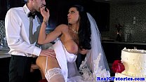 Horny big titted milf bride fucked hard