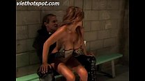 Sexy blonde fucked in jail