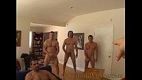 gangbang bitch sucking 4 big cocks cumshot on a... Thumbnail