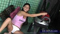 Monkey rocker sex machine ride from cute amateur