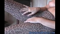 Nylons loving femdom horny in pantyhose Thumbnail