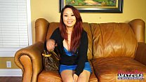 Asian amateur girl gets dirty on casting couch