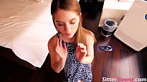 Gorgeous Slut Giving Blowjob and Stuffed by Lar...
