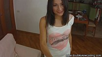 DOUBLEVIEWCASTING.COM - CUTE STASY IS BUSTED HA... Thumbnail