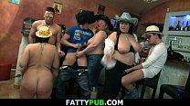 Hot big tits group gangbang orgy
